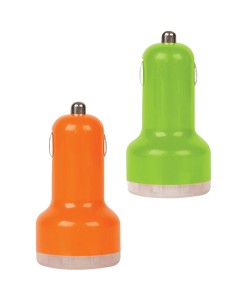 uh-016-colourful-dual-usb-car-charger-ornage-green